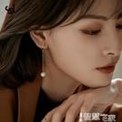 耳環 高級感法式掛耳耳夾無耳洞女復古2021新款珍珠耳掛耳飾耳骨夾耳環 智慧e家 新品