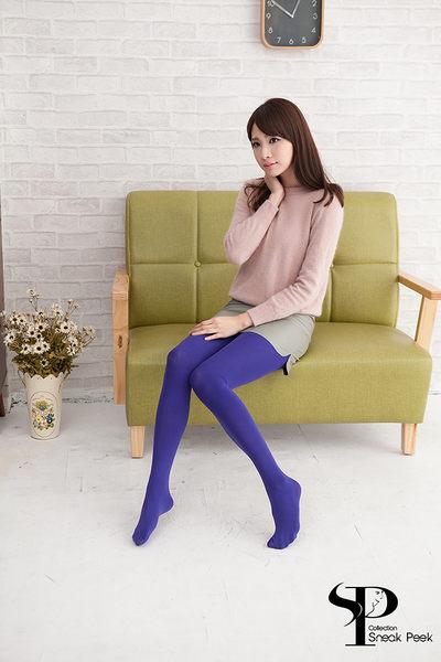 高質感糖果色天鵝絨褲襪