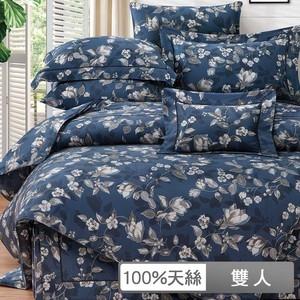 【貝兒】裸睡系列60支天絲七件式兩用被床罩組 奧倫瑟 (雙人)