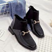 靴子女英倫風平底機車馬丁靴夏女短靴女春秋新款夏季切爾西靴   9號潮人館