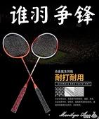 羽球拍兒童雙拍小學生初學耐用型羽毛球排拍子羽毛球拍 2支套裝 【新年免運】