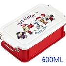 asdfkitty*日本製 史努比運動會雙扣便當盒-可微波-可機洗保鮮盒/水果盒-600ML