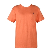 【南紡購物中心】Ralph Lauren 經典刺繡小馬圓領短袖T恤-橘