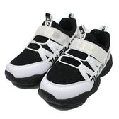 (B3) FILA KIDS 中童鞋 MD電燈運動鞋 2-J425U-010 黑白 [陽光樂活]