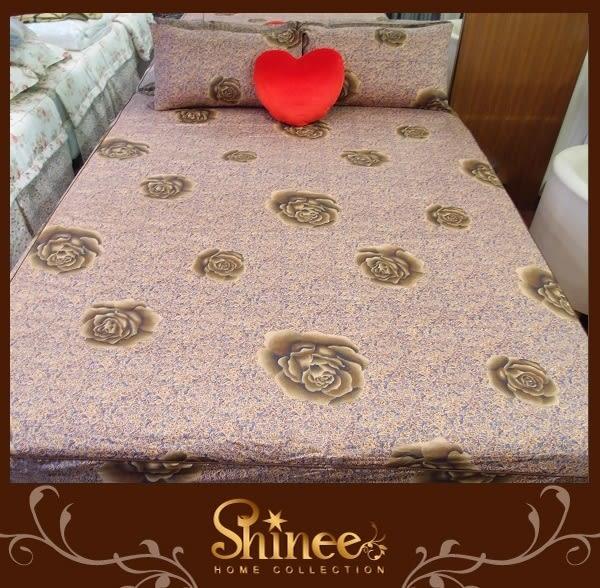 原價1980元↘SHINEE 台灣製 100%精梳棉(琉璃瑰夢)標準雙人床包三件組(床包x1+枕套x2)