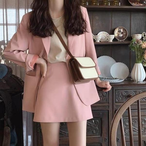 西裝兩件套 秋裝女裝名媛小香風洋氣西裝正韓很仙職業裙子兩件套裝夏-Ballet朵朵