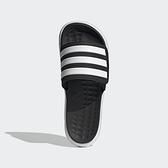 ADIDAS NEO DURAMO SL 男款黑白厚底運動拖鞋-NO.FY8786