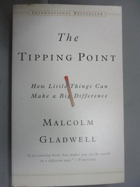 【書寶二手書T1/財經企管_JLB】The Tipping Point_MALCOLM GLADWELL