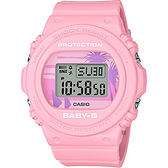 CASIO 卡西歐 Baby-G 80年代西岸海灘風電子錶(BGD-570BC-4)