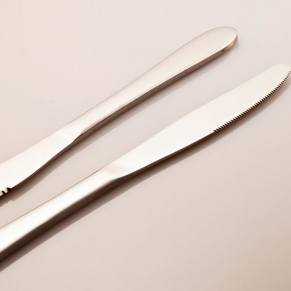 PUSH! 餐具用品不銹鋼牛排刀西餐刀西餐餐刀餐具3pcs E57