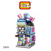 【愛瘋潮】LOZ mini 鑽石積木-1645-1648 街景系列-美髮店、麵包店、照相館、照相館