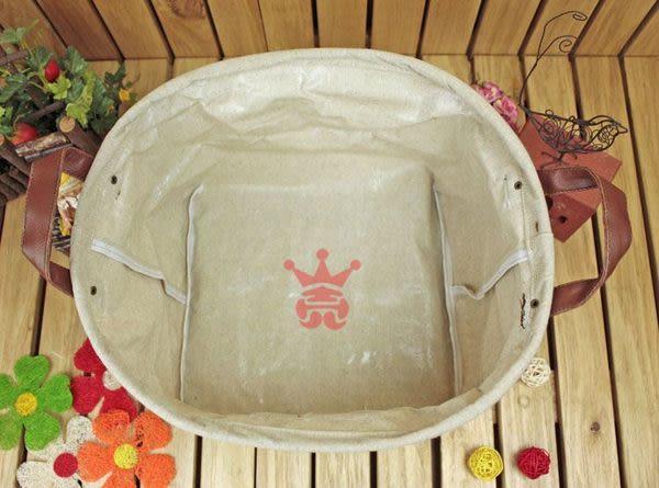 日系雜貨.素面棉麻置物籃.置物桶.收納桶.收納籃(圓)