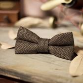 特惠領帶 男士格子領結 復古英倫時尚婚禮領結蝴蝶結男格紋領結
