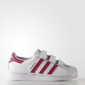 Adidas Superstar Foundation CF C [B23665] 中童鞋 運動 休閒 白 紅 愛迪達