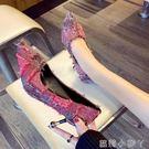 高跟鞋法式少女秋冬季新款百搭女款鞋韓版尖頭細跟單鞋子 蘿莉小腳丫