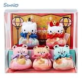 日本限定 HELLO KITTY & 丹尼爾&泰迪小熊 女兒節 擺飾 玩偶娃娃套組