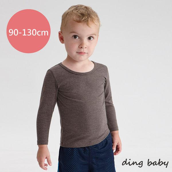 ding baby 兒童發熱衣-長袖圓領3入組-灰(90-130cm)