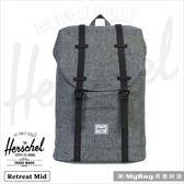 Herschel 後背包 Retreat (小) 灰色點點 筆電後背包 Retreat M-1160 MyBag得意時袋