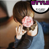 布藝 花朵 髮圈 髮束 髮繩 韓版小飾品 髮飾 頭飾 皮筋髮 繩髮圈 韓國 盤髮 頭花