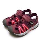 LIKA夢 LOTTO 專業排水護趾磁扣運動涼鞋 水陸冒險系列 酒紅灰 1702 女
