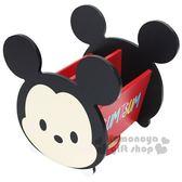 〔小禮堂〕迪士尼 Tsum Tsum 米奇 造型旋轉收納盒《黑紅.大臉》置物盒.飾品盒 4713052-38441
