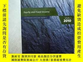 二手書博民逛書店Equity罕見and Fixed Income:CFA Program Curriculum Volume 5,