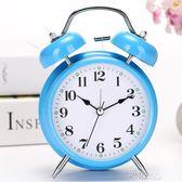 簡約時尚學生床頭靜音小鬧鐘兒童可愛創意臥室鬧錶超大聲鬧鈴台鐘 道禾生活館