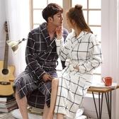 浴袍睡袍女士秋冬季珊瑚絨男士睡衣加厚加長款浴衣性感法蘭絨情侶浴袍新年禮物