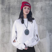 DADA SUPREME 短版造型長袖上衣-女-白