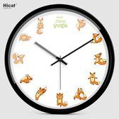 北歐風掛鐘 HICAT掛鐘創意客廳壁鐘石英鐘個性靜音臥室鐘錶卡通時鐘大號掛錶 芭蕾朵朵YTL