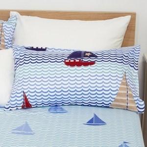 HOLA home 海洋旅行防蟎抗菌枕套2入