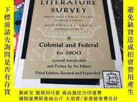 二手書博民逛書店american罕見literature survey colpnial and federal to 1800奇