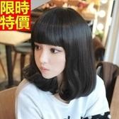 中長假髮-齊瀏海甜美可愛捲髮女美髮用品3色69o60【巴黎精品】