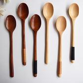 雙12購物節多款日式長柄木勺子木叉小湯勺環保便攜創意