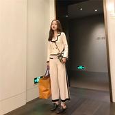超殺29折 韓國小香風御姐時尚針織寬口褲套裝長袖褲裝
