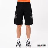 BIG TRAIN  黑色雙層布貼袋短褲-男-B50184