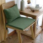 懶人椅墊  美式純色紫色暗綠復古做舊彈力靠背加厚餐椅墊椅套坐墊椅墊可 免運