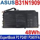 華碩 ASUS B31N1909 3芯 . 電池 ExpertBook P2 P2451 P2451FA P2451FB