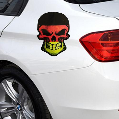 骷髏頭車貼 貼紙 國旗車貼 反光貼紙 遮刮痕 機車貼紙 個性車貼 改裝機車貼 AUDI BMW 沂軒精品 A0404
