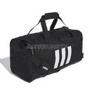 adidas 手提包 3-Stripes Duffel Bag 黑 白 男女款 斜背 健身包 運動休閒 【ACS】 GE1237