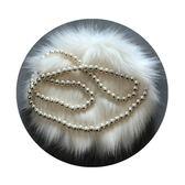 618好康鉅惠珍珠?條單肩斜挎包韓版百搭可愛毛毛包包女