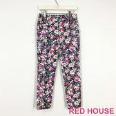 Red House 蕾赫斯-滿版印花長褲(紫色) 零碼出清,滿499元才出貨