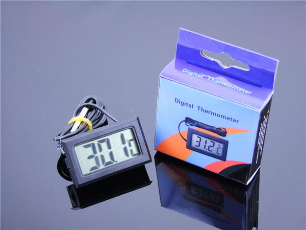 【生活家購物網】YS-01電子數位嵌入式溫度計 電子數位顯式魚缸冰箱 溫度計防水帶探頭
