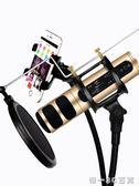 深野 D198全民K歌麥克風手機唱歌神器通專用設備錄音聲卡套裝話筒【帝一3C旗艦】
