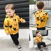 新年大促嬰兒沖鋒風衣外套2018新款男童秋裝童裝1歲3兒童寶寶女潮小童秋季 森活雜貨