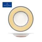 德國Villeroy&Boch-奧頓系列-24cm深盤-Fleur黃邊花環