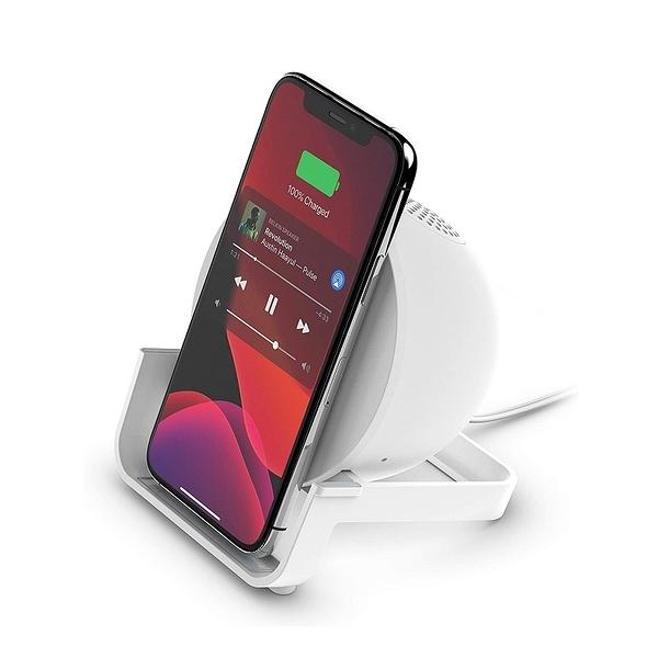 Belkin 無線充電座+藍牙揚聲器 AUF001ttBK 10W Qi Wireless Charging Speaker 黑/白 [2美國直購]