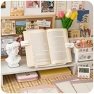 讀書架 少女心閱讀架讀書架看書支架桌上小學生用書夾書靠書立立書托書擋【快速出貨八折鉅惠】