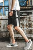 日繫夏裝青少年短褲男正韓白條運動五分褲短褲男薄休閒褲短褲男潮禮物限時八九折