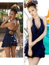 *來福*編號33韓國明星款深藍泳裝泳衣,1件直購680元,現貨+預購7-10